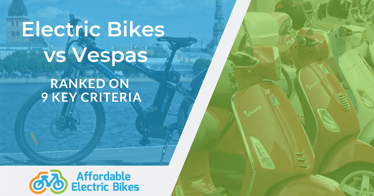 Electric Bike vs Vespa: Ranked on 9 Key Criteria (#5 is Critical)