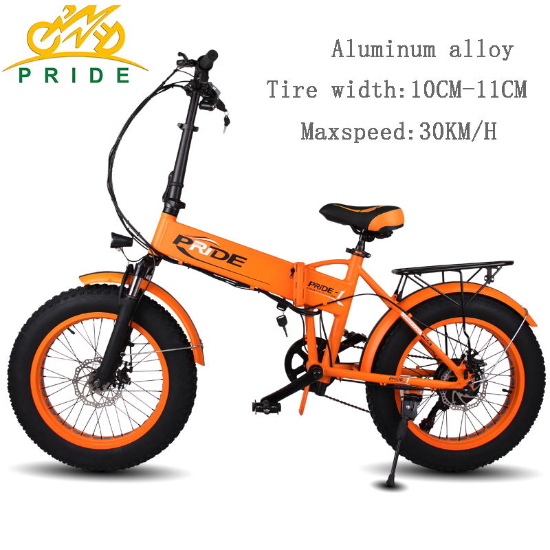 20inch Electric Bike 48v10a Lithium Battery Fat Tire Aluminum Foldable 250w Motor 6sd Snow