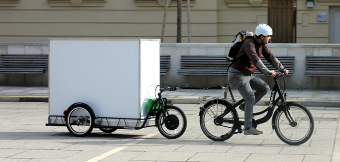 electric bike towing trailer