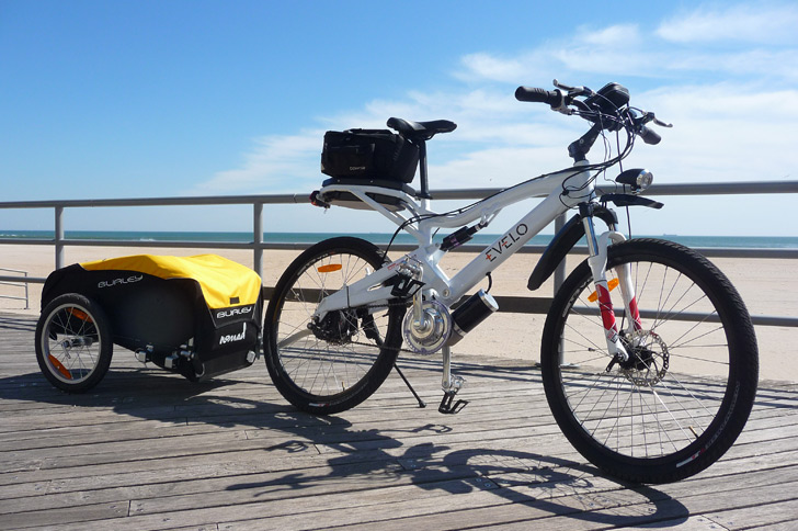 electric bike trailer can tow