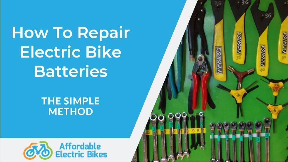 how to repair electric bike batteries